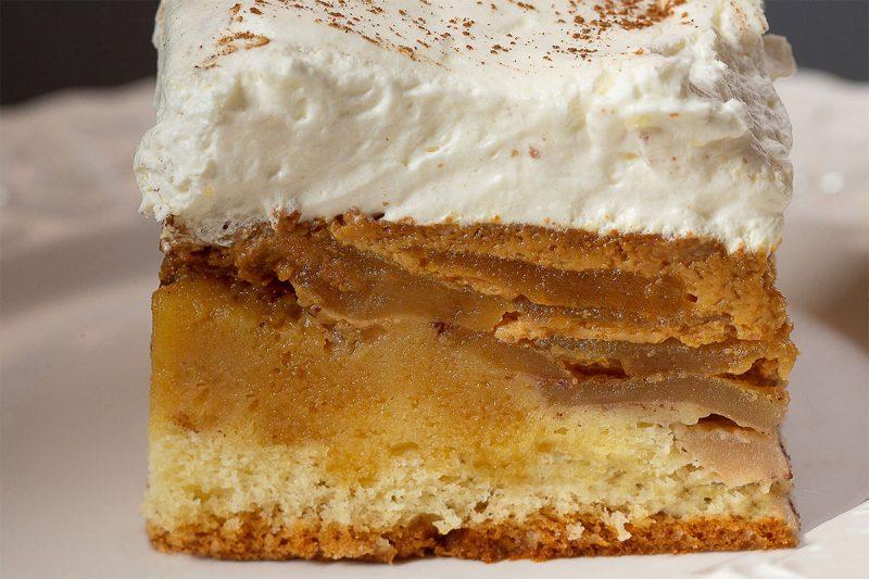 Prăjitura Budincă mere